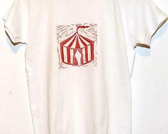 Big Top - Ladies T-Shirt on White - Size Large