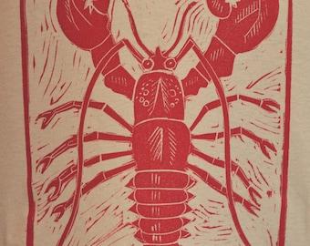 Lobster- Men's T-Shirt on Tan - Size Medium