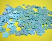 100 Blue Mini Flower Sequins