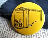 YELLOW Film Roll 2.25-inch Pinback Button