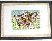 Mini ACEO Bounty - Cheetah Endangered Species Series Art Card Original - Mounted