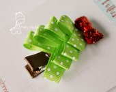 Loopy Green Christmas Tree Hair Clip