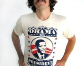 NOW ON SALE - Obama For President TShirt- Men's Sizes