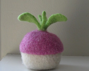 Rutabaga Jar with Removable Lid - Felted Wool - Bowl - Made-to-order