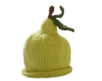 Bartlett Pear Hat/Soft Cotton Blend/Baby 0 - 3 Months/ Limited Supply/Ready to Ship
