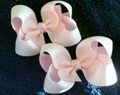 Classic 3in Twisted Boutique Bows PAIR