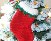 Miniature Christmas knit stocking