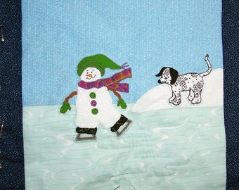 Quited wall hanging Winter Friends