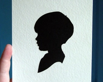 Paper Silhouette. Handcut and Mounted. Custom Made for You.
