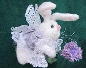Pdf Pattern, Primitive Bunny Doll, Bunny Doll, Fairy, Hanging Ornament, Bunny