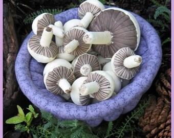 Primitive Pdf Pattern,  Mushrooms, Sewing Pattern, Primitive Mushrooms