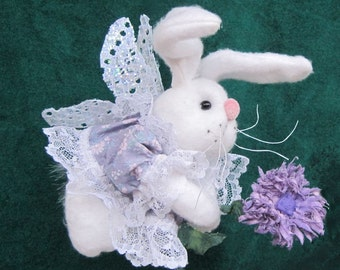 Pdf Pattern, Primitive Bunny Doll, Bunny Doll, Fairy, Hanging Ornament, Bunny