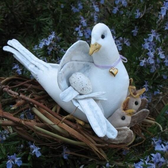 PDF Pattern, Primitive Dove, Baby Birds,  Hatching Birds, Sewing Pattern, birds, Dove