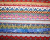Bright Colors Sweater Knit fabric 1 yard
