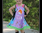 LuluBelle's Couture Fancy Nancy Boutique Party Dress & Crown Set size 4/5/6  (((FLASH SALE)))