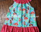 LuluBelle's Couture Boutique Ruffle Neck Mermaid Dress sz 4/5/6 or Top sz 7/8