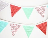 "RESERVED FOR ""ABEND""  Bunting Party Flags - All Pinks Pennant"