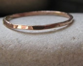 14K Rose Gold Stacking Ring. Recycled Solid Rose Gold. 1mm. Or Choose Yellow, White, Or Green Gold
