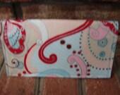 SALE Fabric checkbook cover retro