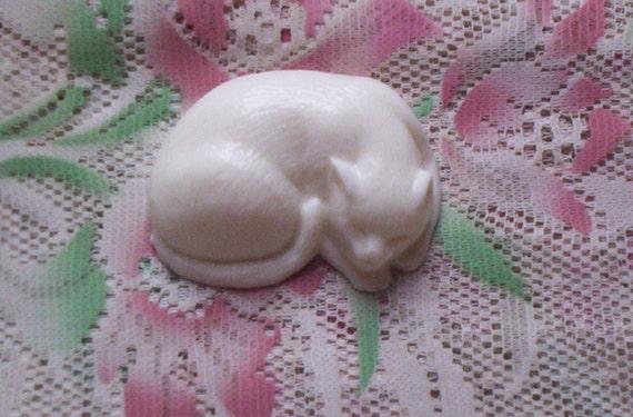 Natural Handmade Shea Butter Glycerin Cat Shaped Soap-Hypoallergenic-Vegan--You Choose Fragrance-Vegan-Animal Rescue