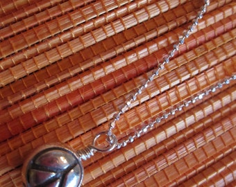 Peace and Love Sterling Silver Necklace
