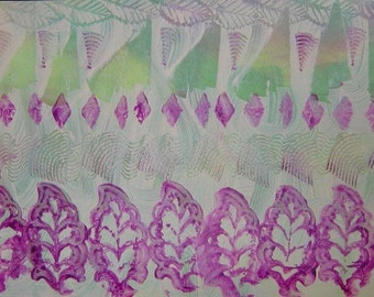 Unique Paste Paper to Frame or for Paper Arts, Bookmaking, Collage, Scrapbooking, Mixed Media and MORE PSS 0487