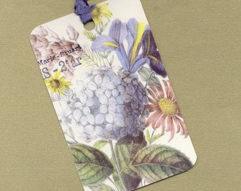 Six French Hydrangea Gift Tag Set, Hang Tag, Art Tag, Bookmark PSS 0665