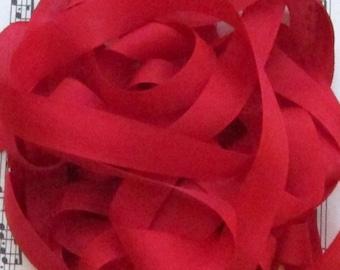 Christmas & Valentine Red Seam Binding Silky Rayon Seam Binding Ribbon - 9 yards