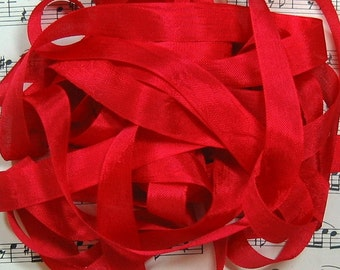 Italian Red Seam Binding Silky Rayon Seam Binding Ribbon - 9 yards PSS 0706