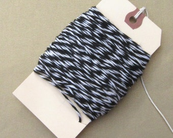 10 Ply - 25 Yards Black & White Bakers Twine