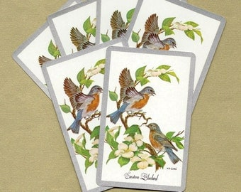 Eastern Bluebirds Playing Cards for ATCs, Collage, Scrapbooking, Paper Arts, Assemblage and MORE