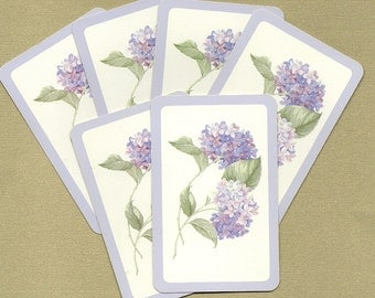 Vintage Hydrangea  Playing Cards for ATCs, Collage, Scrapbooking, Paper Arts, Assemblage and MORE