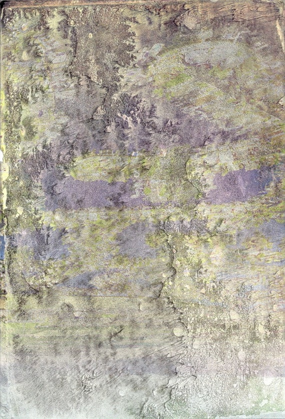 Gorgeous OOAK Lightweight Background Paper for ATCs, Collage, Scrapbooking, Paper Arts, Assemblage, Mixed Media and MORE