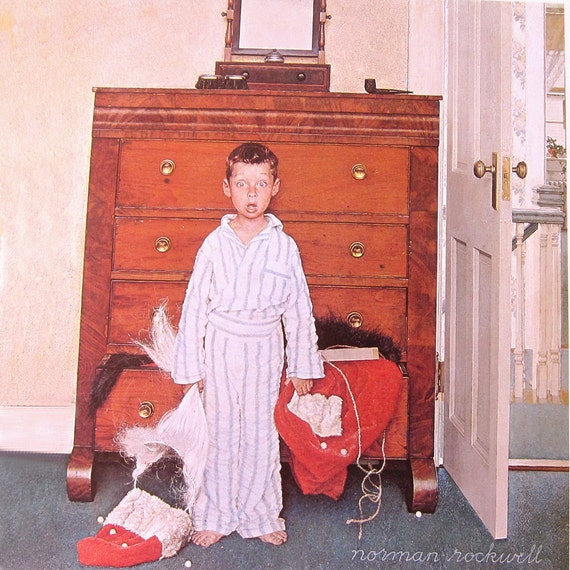 Norman Rockwell Discovering Santa December 29 by PaperSymphony | 570 x 570 jpeg 61kB