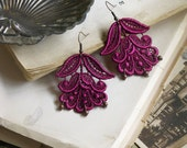 lace earrings -CYBELE- violet