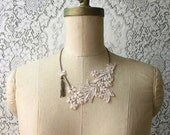 lace necklace -LYSE- bridal necklace