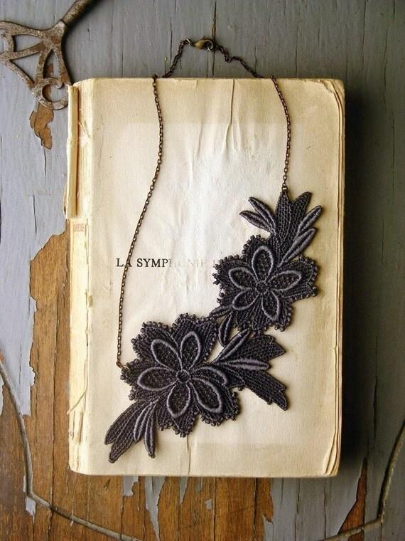 grey garden lace necklace
