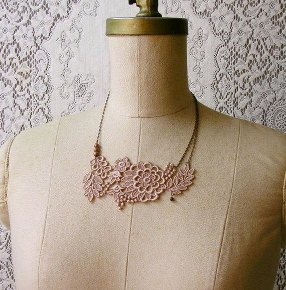 lace necklace -JUSTINE-  statement necklace - mothers day -easter
