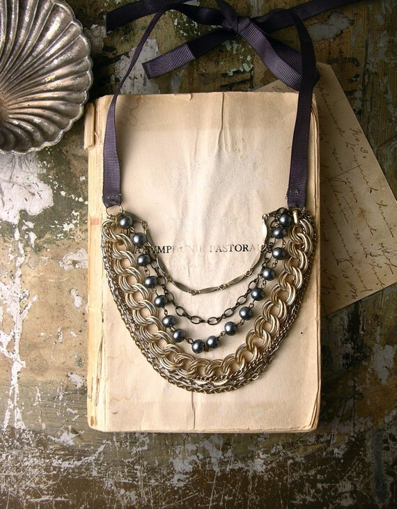multi chain with pearls- NATHALIE -