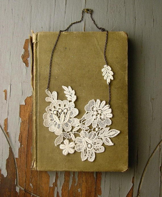 teatime in the garden lace necklace