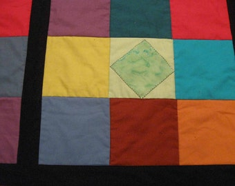 Modern Jewels in the Windows Quilted Bed Runner or Wallhanging