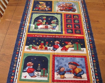 A Beary Merry Christmas Quilted Wall Hanging