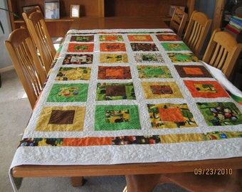 Toddler San Francisco Window Quilt with Forest Animals