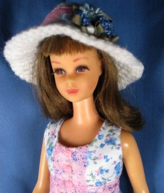 Francie - Long Blue Floral Dress and Hat
