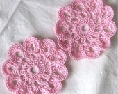 2 Large Handmade Crochet Flowers for Scrapbooking\/ Paper Piecing by Lily