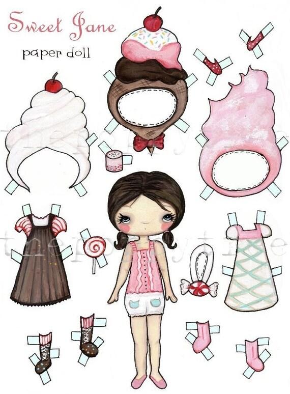 Sweet Jane Paper Doll
