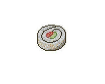 California Roll Sushi Cross Stitch Chart Pattern PDF