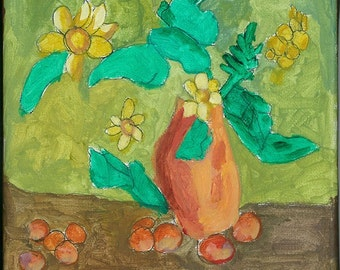 traditional Still Life with Contemporary- 8 x 10 inches