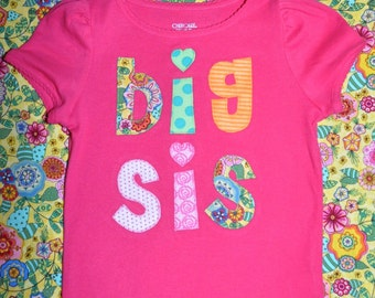 Big Sister Little Sister T-shirt Girls Boutique Custom Maddie Kate
