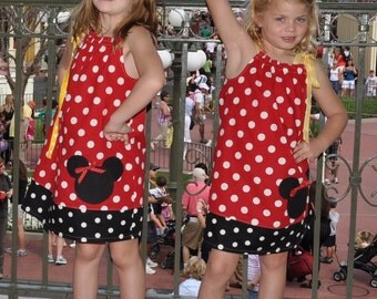 Minnie Mouse Disney Pillowcase Summer Vacation Dress Maddie Kate Boutique Custom